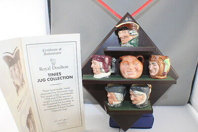 Royal Doulton D6951 to D6956 Diamond Anniversary Tinies Jug Collection  Mint Con