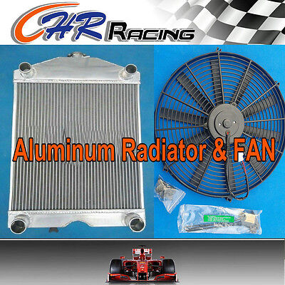 Aluminum Radiator &Fan for Ford 2N / 8N / 9N tractor w/flathead V8 engine Manual