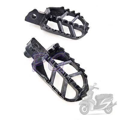 Black Aluminum Foot Rests Footrests Footpegs Pit Bike Motocycle