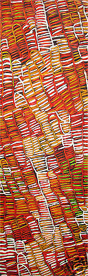 150cm  LARGE  oil painting canvas aboriginal art  great colours by jane crawford