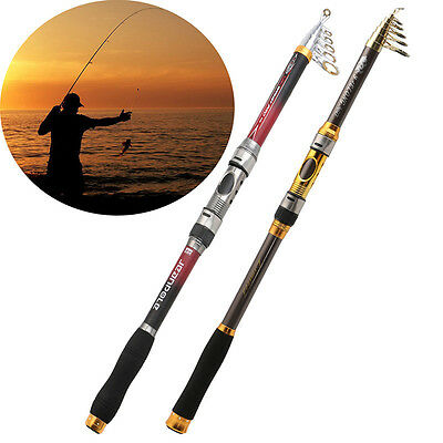 Superhard Telescopic Carbon Fiber Sea Fishing Spinning Reel Rod Casting Pole