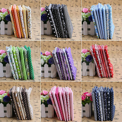 7Pcs 50cm Assorted Pattern Floral Cotton Fabric Cloth DIY Craft Sewing Patchwork