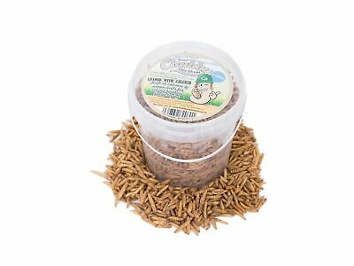 1 Litre Chubby Dried Calciworms Calci Worms Wild Birds Fish Reptile Rodent Food