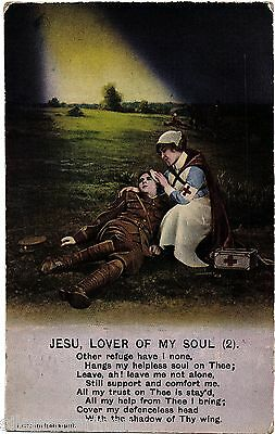 Bamforth Song postcard, Jesu, Lover of My Soul (2), unposted