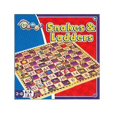 Snakes and Ladders Traditional Children Board Game Kids Toy, Travel Game