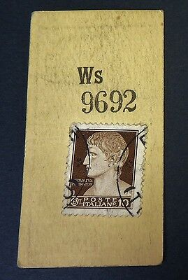 """Cigarette Card Godfrey Phillips Ltd """"Stamps"""" Italy Augustus The Great 1930 VG 86"""