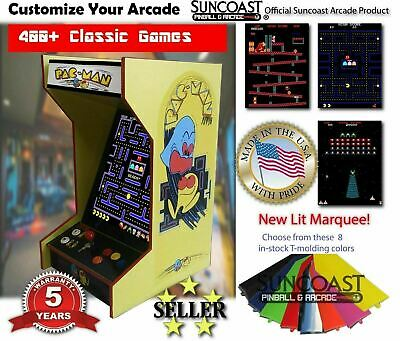 *New* Pac-Man Upright Bartop/Tabletop Arcade Machine With 412 Classic Games