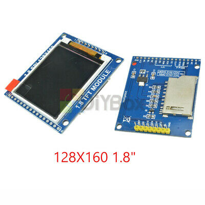 "128X160 1.8"" Serial SPI TFT LCD Module Display with PCB Adapter ST7735B IC SD"