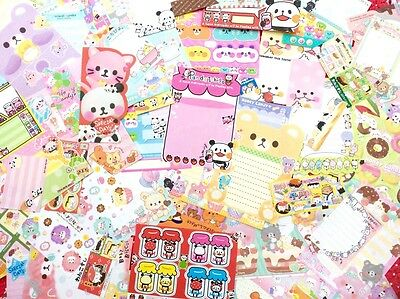 MIXED KAWAII JAPANESE MINI NOTE SHEET PACKS CUTE STATIONERY Q-Lia San-X Crux