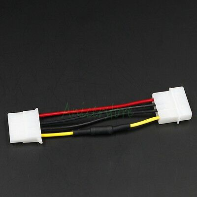 Cooling Fan Molex 4pin M/F 30% Noise Speed Reduction Resistor Extension Cable