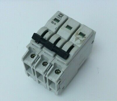 Square D Triple Pole Mcb 16 Amp Plug In To Clear (S46)
