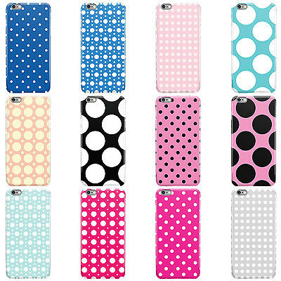 Dyefor Polka Dot Collection Hard Case Cover For Apple Iphone Mobile Phones