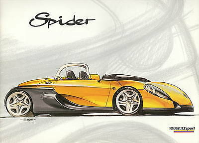 Renault Sport Spider • 1996 • Brochure Prospekt • French/English • EXCELLENT NEW