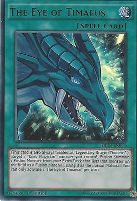 Yu-Gi-Oh Ultra Rare Card: The Eye Of Timaeus - Drl3-En045 - 1St Edition