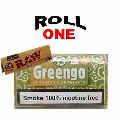 Greengo Tobacco Herbal Mixture 100% Nicotine Free + Raw Rolling Paper