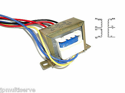 12V 1 Amp Transformer 6V-0-6V Center Tap 110Vac to 12Vac Chassis