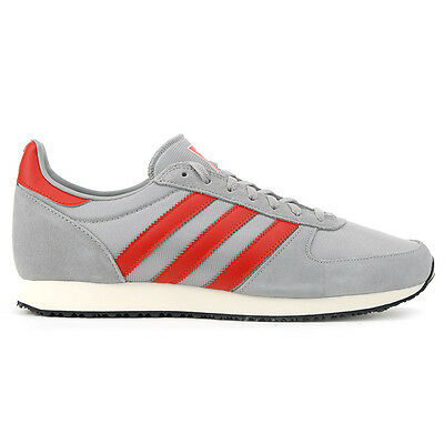 Adidas Men's ZX Racer Grey/White/Red Shoes S79206 NEW!