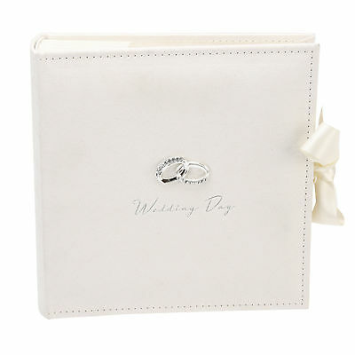 """Photo Album Wedding Day Amore Holds 100 x 7""""x5"""" Photos Text space Engraved FOC"""