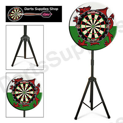 The Welsh Darts Caddy Kit, Portable Dartboard Stand for the Serious Darts Player