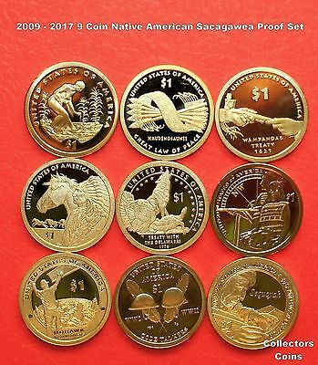 "2009 - 2016 Sacagawea Native American 8 Coin ""S"" Proof Set"