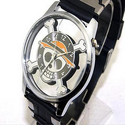 One Piece Monkey D Luffy Pirate Flag Skull Wrist Watch Cosplay Anime Gifts