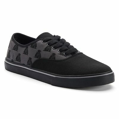 STAR WARS VADER CHILL Men's Canvas Fashion Sneakers Sz 8,9,10,11 Black/Charcoal