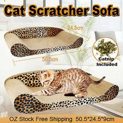 50cm Cat corrugated Scratcher Pet Claw Scratching Board Bed Sofa Toy Pad