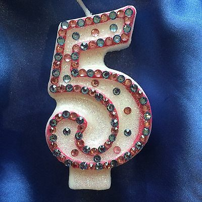 Princess Birthday CANDLE Diamante Any Number You Choose
