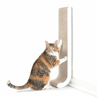 """4CLAWS Wall Mount Scratching Post 26"""" White BASICS Collection  CS4"""