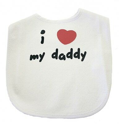 "BABY'S BIB ""I Love My Daddy"" - Gift for New Dad Baby Gift Baby's Bib FREE POST"