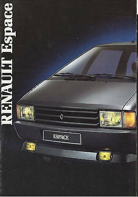 Renault Espace  • 1987 • Brochure Prospekt • Dutch • EXCELLENT
