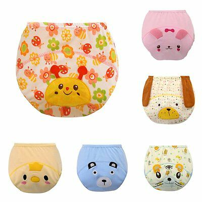 Baby Cotton Training Pants Reusable Cloth Washable Infant Nappy Diaper Underwear