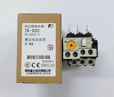 New FUJI Thermal Overload Relay TK-E02 5-8A