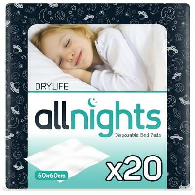 Drylife All Nights Children's Bed Pads - 60cm x 60cm - Pack of 20