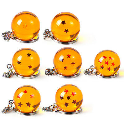 For Dragon Ball Z DBZ Cosplay3D Star Keychain Keyring Pendant Anime Replacement