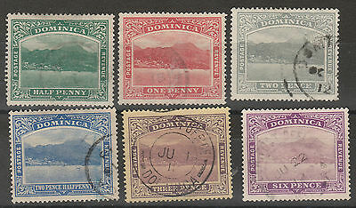 Dominica 1908 View Range To 6D Wmk Multi Crown Ca Used