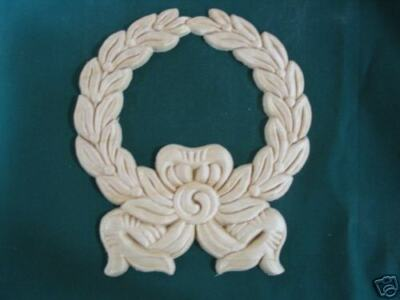 carved wreath wood ornament applique accents