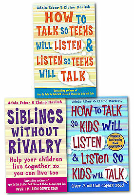 How to Talk So Kids and Teens Will Listen 3 Books Collection Set Parenting Guide