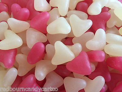 Barratt Pink And White Jelly Hearts  - Wedding Favour / Party Sweets