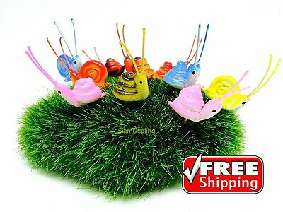 10 Pcs Terrarium Tiny Snail Miniature Dollhouse Fairy Garden Accessories