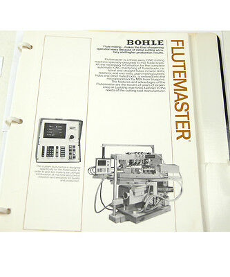 Bohle Machine Tools Advertisement Booklet  (W-4-Box 9-20-Rct)