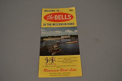 Nice Vintage Wisconsin Dells Boat Trips Travel Brochure RIVERVIEW BOAT LINE