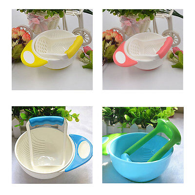 Baby Food Handmade Grinding Bowl Supplement Fruits and Vegetables Masher Bowl