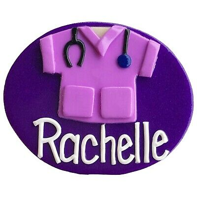 Scrubs B Name Badge (handmade) - with your name (loved by nurses)