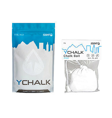 COMBO: Chalk Ball + Bag Loose Y Chalk to refill for GYM, ROCK CLIMBING, CROSSFIT
