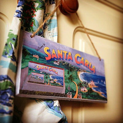 Lost Boys Welcome to Santa Carla wooden sign