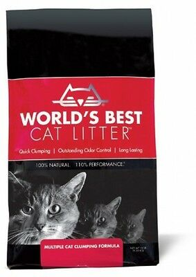 Worlds Best Cat Litter Bag Multiple Cat Clumping Formula, 6.35kg