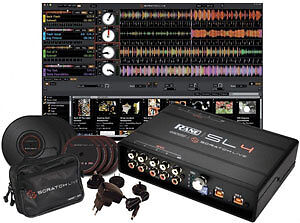 Rane Serato SL4 Digital Vinyl DJ Timecode Software with Vinyl and CD Time Cod...