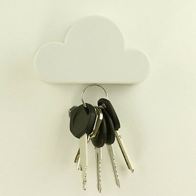 1PC Creative Cloud-shaped Magnetic Keychain White Cloud Novelty Wall Key Holder