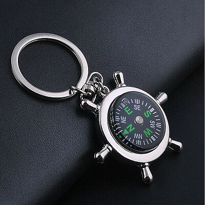 Unisex  Compass Metal Car Keyring Keychain Key Chain Ring Keyfob Gifts